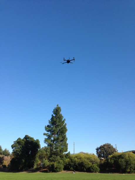 3DR IRIS quadcopter in flight